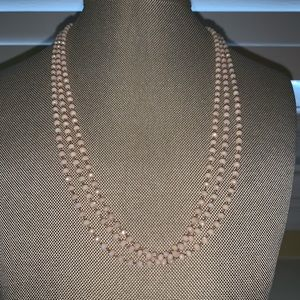 Light pink, thin layering necklace
